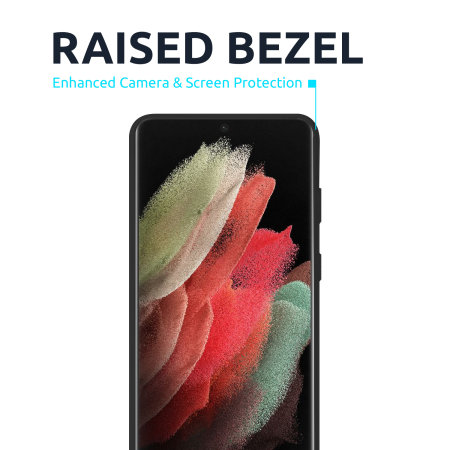 Olixar Samsung Galaxy S21 Ultra Soft Silicone Case - Black