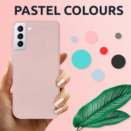 Olixar Samsung Galaxy S21 Plus Soft Silicone Case - Pastel Pink
