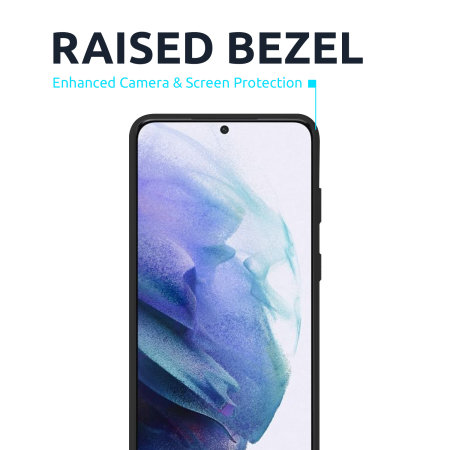 Olixar Samsung Galaxy S21 Soft Silicone Case - Black