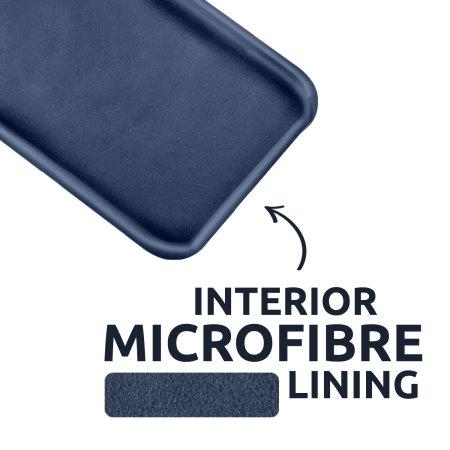 Olixar Samsung Galaxy S21 Soft Silicone Case - Midnight Blue