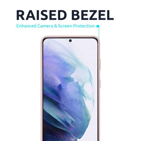 Olixar Samsung Galaxy S21 Soft Silicone Case - Pastel Pink