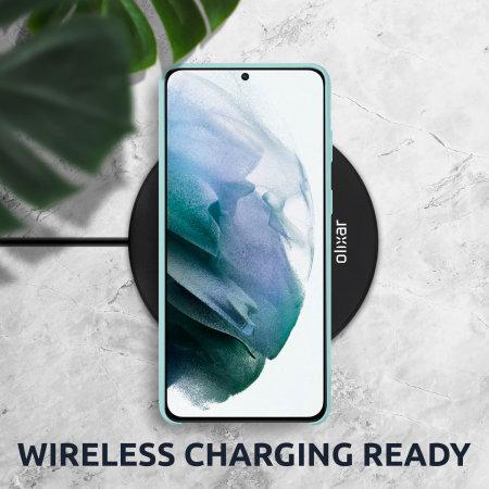 Olixar Samsung Galaxy S21 Soft Silicone Case - Pastel Green