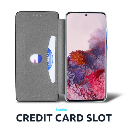 Olixar Soft Silicone Samsung Galaxy S21 Ultra Wallet Case - Black