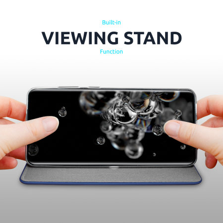 Olixar Soft Silicone Samsung Galaxy S21 Plus Wallet Case - Navy Blue
