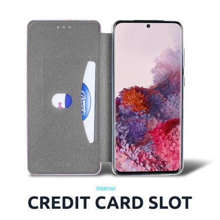 Olixar Soft Silicone Samsung Galaxy S21 Plus Wallet Case - Pink