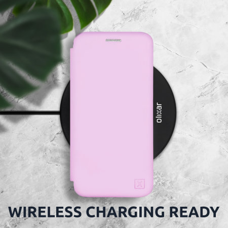 Olixar Soft Silicone Samsung Galaxy S21 Wallet Case - Pink