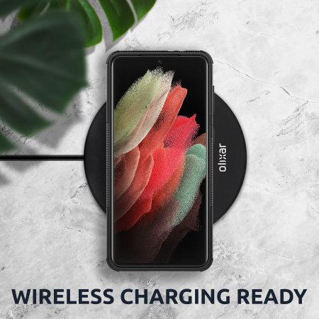 Olixar ArmourDillo Samsung Galaxy S21 Ultra Protective Case - Black