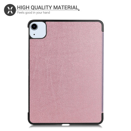 """Olixar iPad Pro 11"""" 2020 2nd Gen. Leather-Style Stand Case - Rose Gold"""