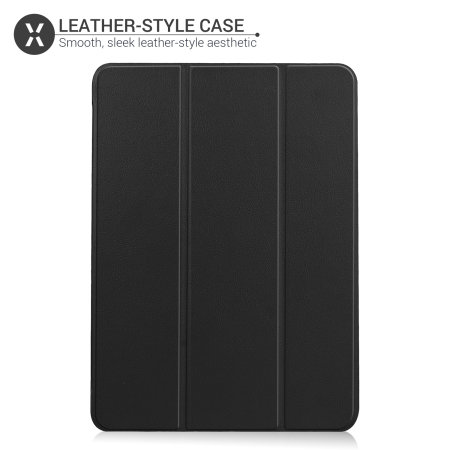 """Olixar iPad Air 4 10.9"""" 2020 4th Gen. Leather-Style Stand Case - Black"""