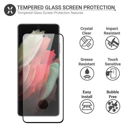 Olixar Samsung Galaxy S21 Ultra Tempered Glass Screen Protector