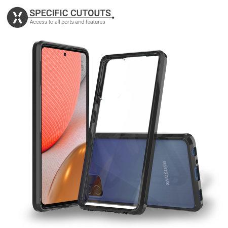 Olixar ExoShield Tough Snap-on Samsung Galaxy A72 Case - Black