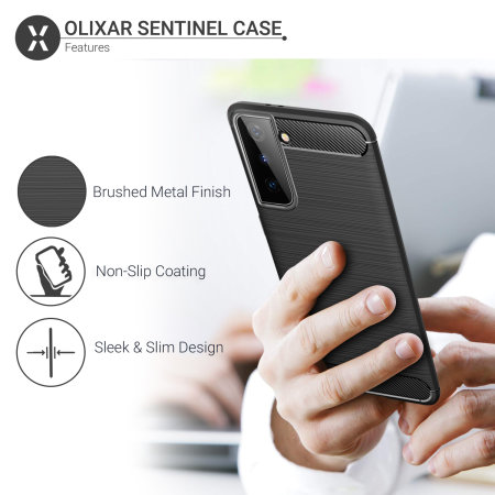 Olixar Sentinel Samsung Galaxy S21 Plus Case & Glass Screen Protector