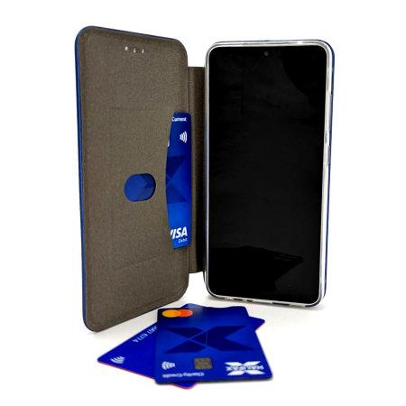 Olixar Soft Silicone Samsung Galaxy A52 Wallet Case - Midnight Blue