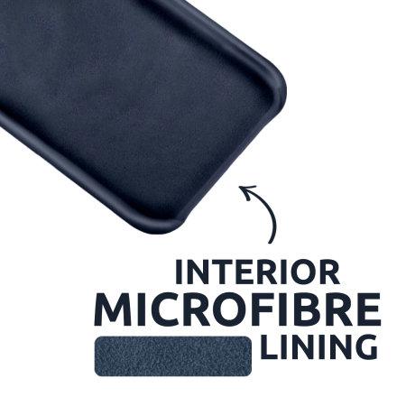 Olixar Samsung Galaxy A72 Soft Silicone Case - Midnight Blue