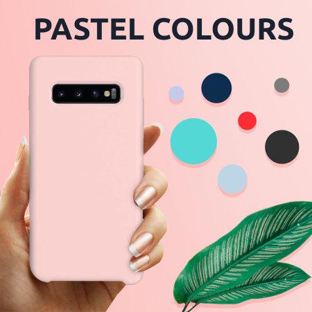 Olixar Samsung Galaxy A72 Soft Silicone Case - Pastel Pink