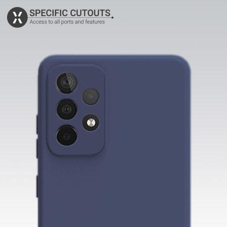 Olixar Samsung Galaxy A52 Soft Silicone Case - Midnight Blue