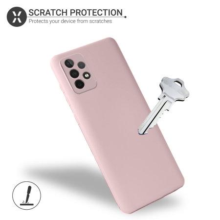Olixar Samsung Galaxy A52 Soft Silicone Case - Pastel Pink