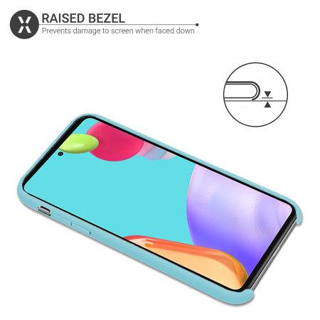 Olixar Samsung Galaxy A52 Soft Silicone Case - Pastel Blue