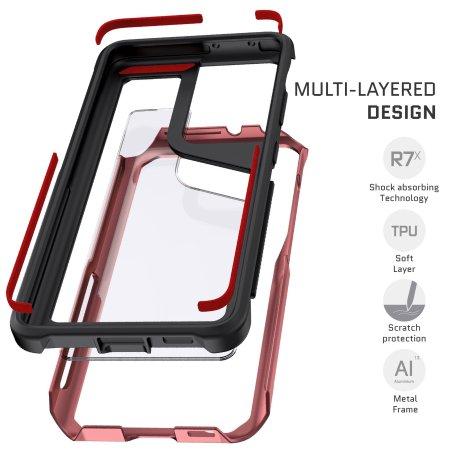 Ghostek Atomic Slim 3 Samsung Galaxy S21 Ultra Case - Pink Aluminium