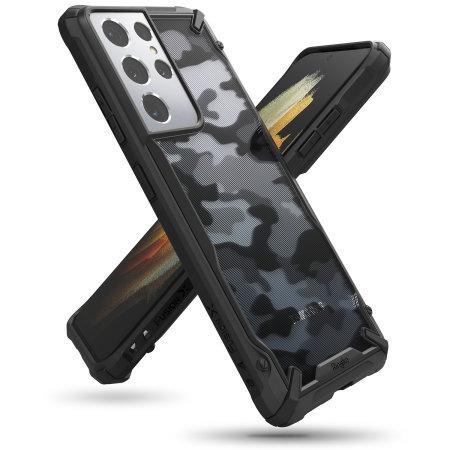 Ringke Samsung Galaxy S21 Ultra Fusion X Design Bumper Case - Camo