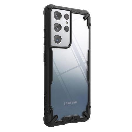 Ringke Samsung Galaxy S21 Ultra Fusion X Tough Bumper Case - Black