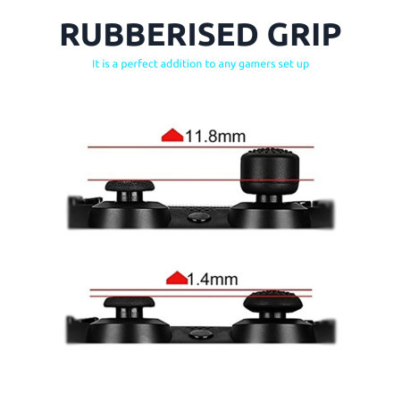 Olixar Precision Thumb Grips For PlayStation 5 Controller - Black