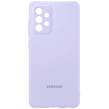Official Samsung Galaxy A52 Silicone Cover Case - Violet