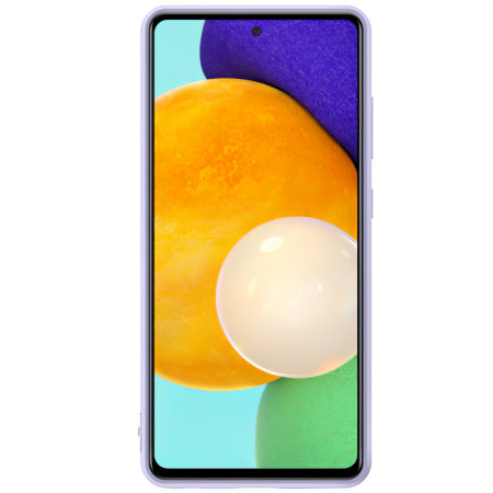 Official Samsung Galaxy A72 Silicone Cover Case - Violet