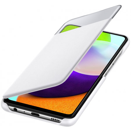 Official Samsung Galaxy A52 Smart S View Wallet Case - White