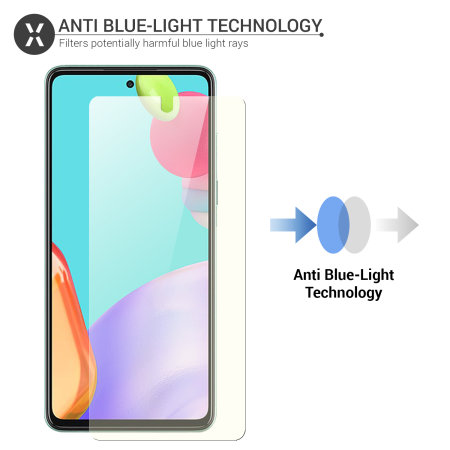 Olixar Samsung A52 Anti-Blue Light Film Screen Protector - 2 Pack