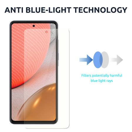 Olixar Samsung A72 Anti-Blue Light Film Screen Protector - 2 Pack