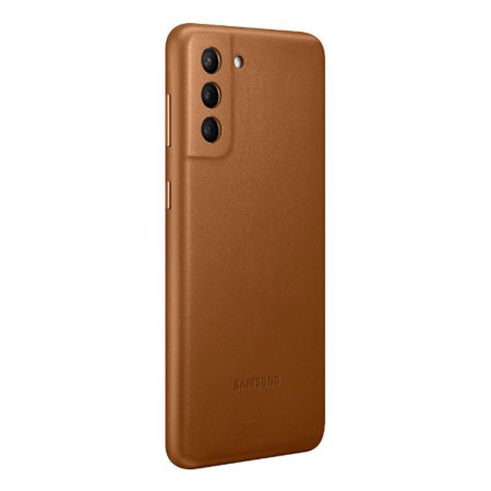 Official Samsung Galaxy S21 Plus Leather Cover Case - Brown