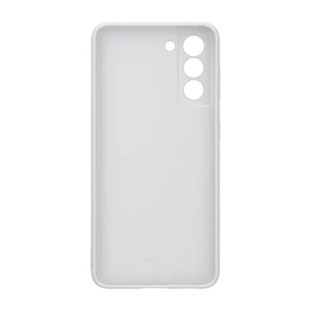 Official Samsung Galaxy S21 Silicone Cover Case - Light Grey