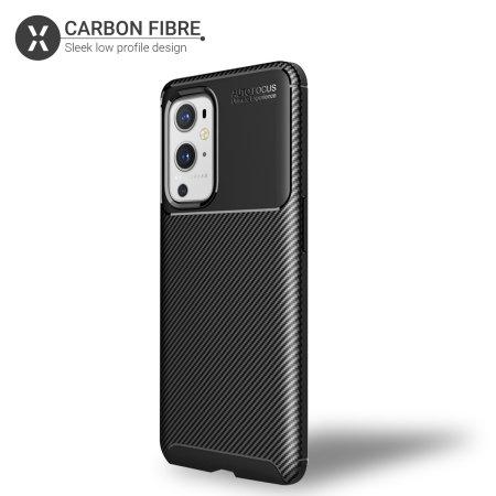 Olixar Carbon Fibre OnePlus 9 Pro Protective Case - Black