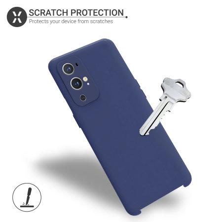 Olixar OnePlus 9 Pro Soft Silicone Case - Midnight Navy