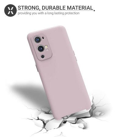 Olixar OnePlus 9 Pro Soft Silicone Case - Pastel Pink