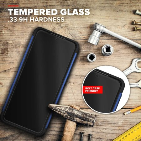 Zizo Bolt Samsung Galaxy S21 Tough Case & Screen Protector - Blue