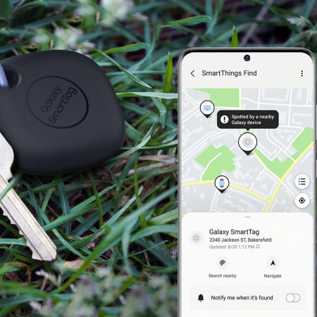 Official Samsung Galaxy SmartTag Bluetooth Compatible Tracker - Black