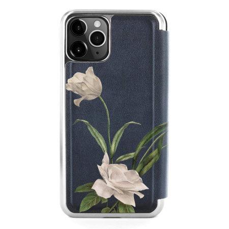 Ted Baker Elderflower iPhone 11 Pro Folio Case - Black / Silver