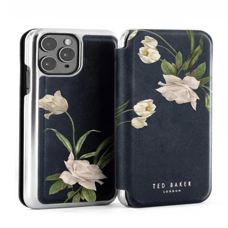 Ted Baker Elderflower iPhone 11 Pro Max Folio Case - Black / Silver