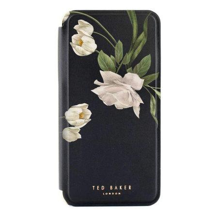 Ted Baker Elderflower iPhone XR Folio Case - Black / Silver
