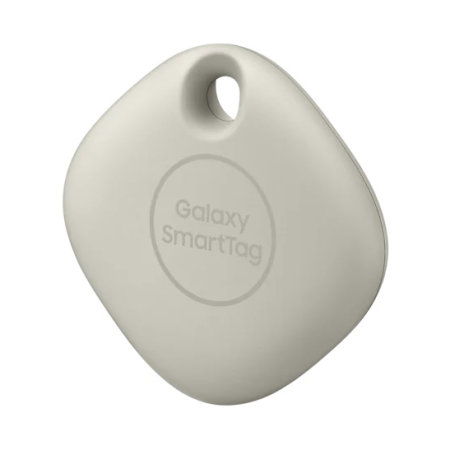 Official Samsung Galaxy SmartTag Bluetooth Compatible Tracker- Oatmeal