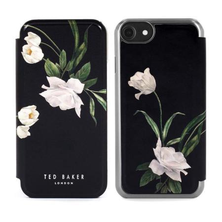 Ted Baker Elderflower iPhone 7 Folio Case - Black / Silver