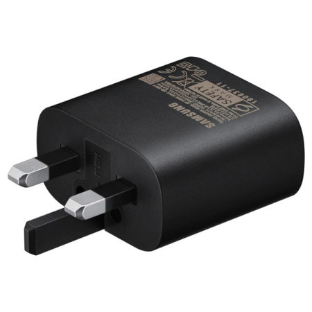 Official Samsung 25W Fast Wall Charger & 1m USB-C to C Cable - Black