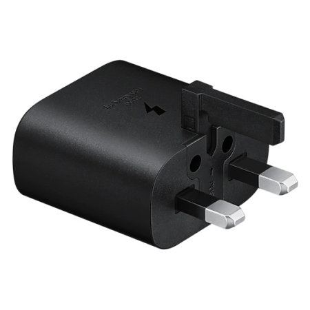 Official Samsung 25W PD USB-C UK Wall Charger - Black