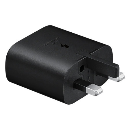 Official Samsung Galaxy S21 Plus 25W PD USB-C UK Wall Charger - Black