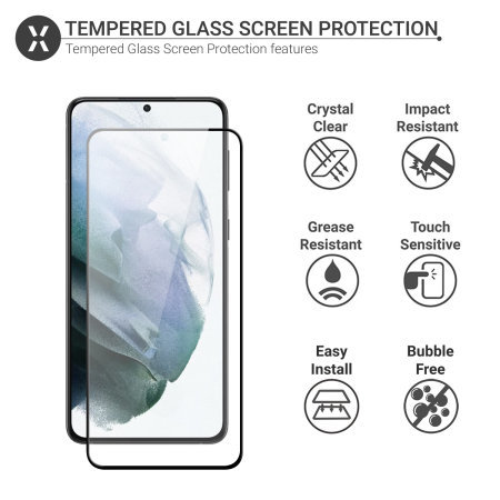 Olixar Samsung S21 Plus Screen Protector & 2 Pack Camera Protectors