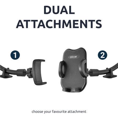 Olixar Universal Dual Attachment Windscreen & Dashboard Phone Holder