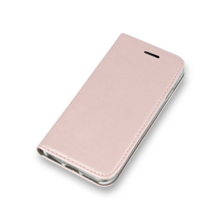 Samsung Galaxy A12 Leather-Style Wallet Stand Case - Pink