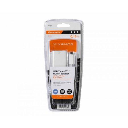 Vivanco Samsung Galaxy S21 Plus USB-C To HDMI 4K 60Hz Adapter - White